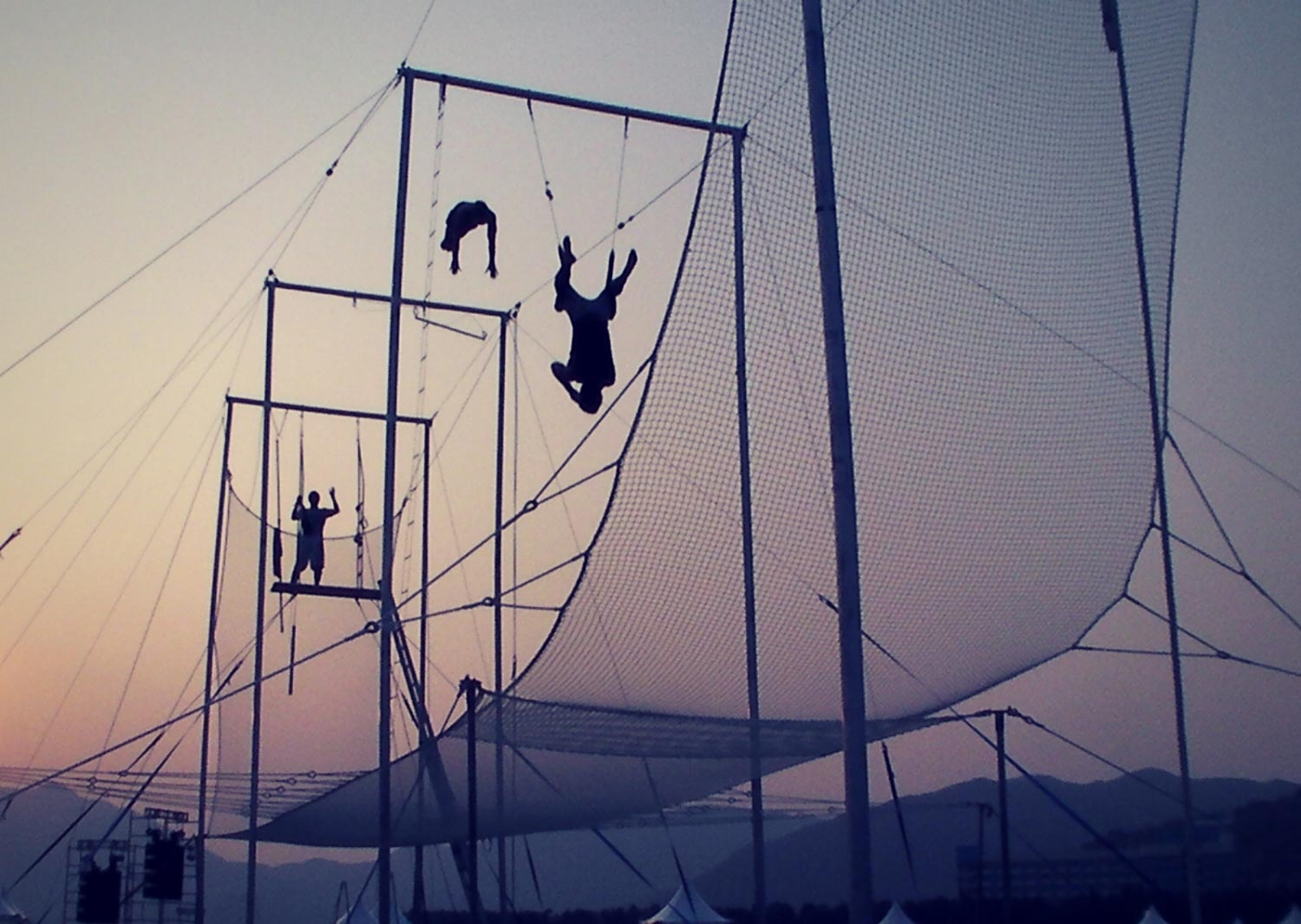 Circus Arts Australia - Sunset Outdoor Flying Trapeze